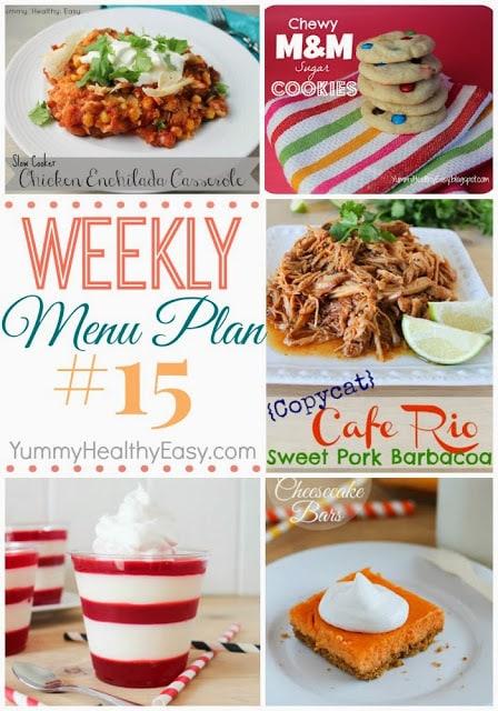 Easy Weekly Menu Plan on YummyHealthyEasy.com