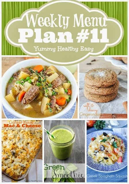 Easy dinner, side dish and dessert ideas to help plan out your weekly menu