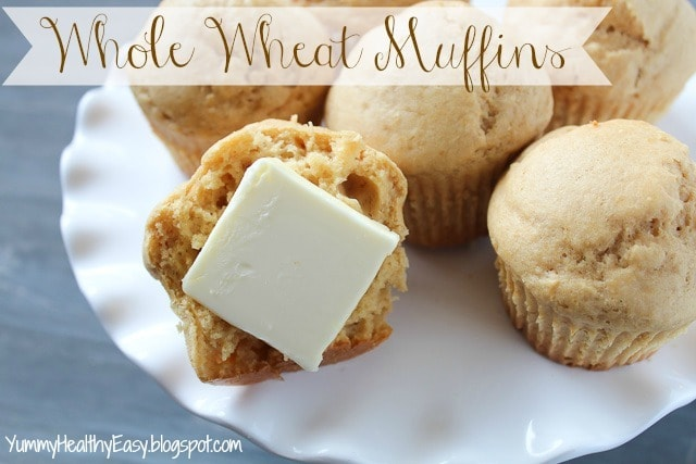 What's better than muffins? Whole wheat muffins!! These are moist, soft, easy and healthier than most muffin recipes you'll find!