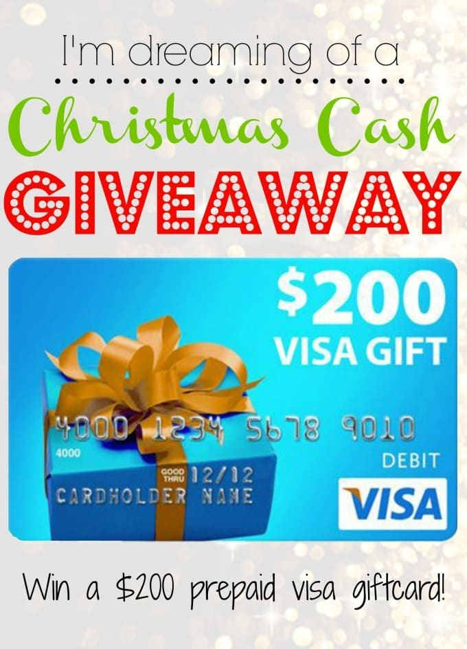 $200 Visa Gift Card Christmas Cash Giveaway!