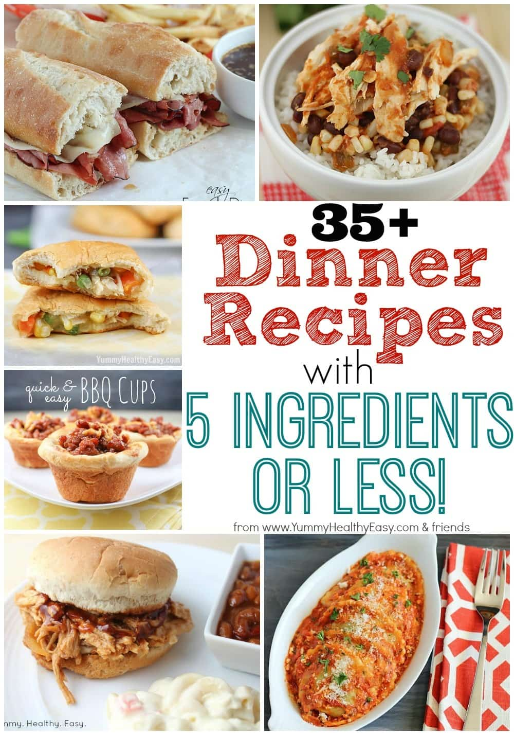 35 Dinner Recipes With 5 Ingredients Or Less Yummy