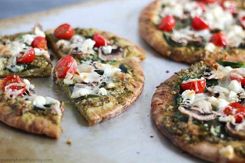 Easy Pita Pesto Pizza 8