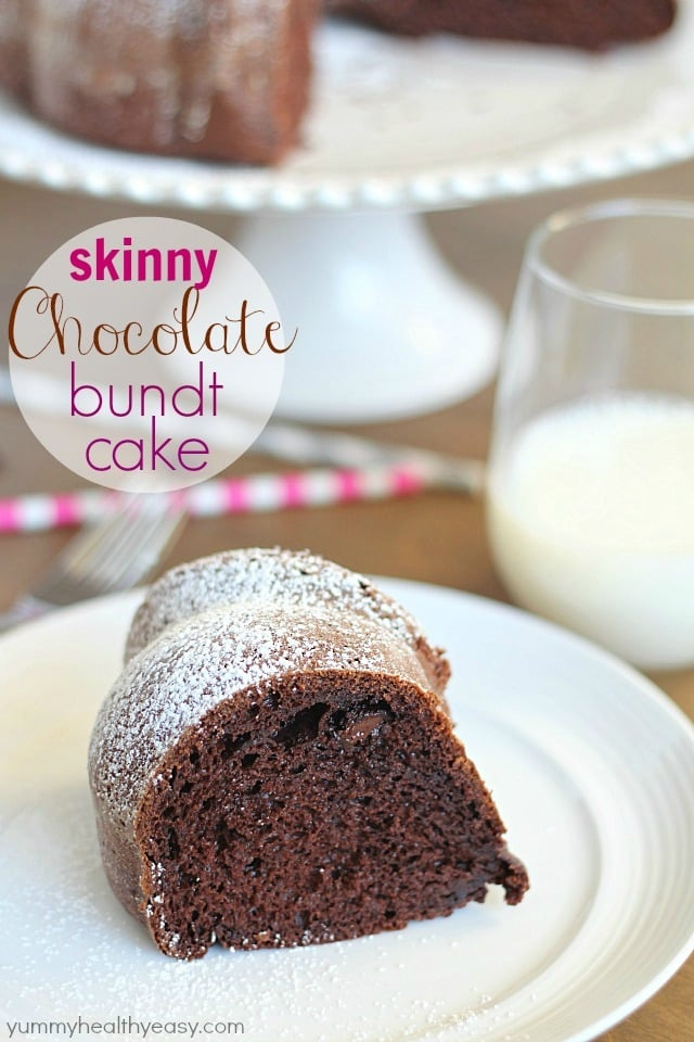 Skinny Chocolate Bundt Cake Yummy Healthy Easy