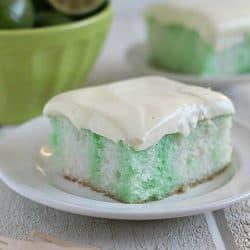 Skinny Lime Poke Cake