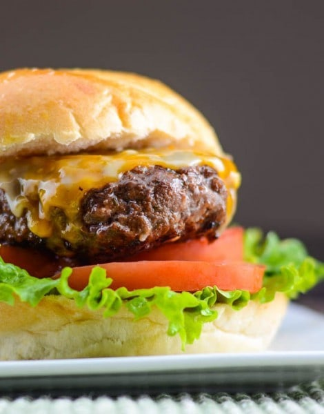 Asian Barbecue Burgers with Sriracha Mayo - flavormosaic.com