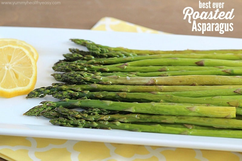 ... minutes and only 4 ingredients = The Best Roasted Asparagus EVER