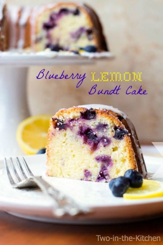 Blueberry Lemon Bundt Cake - two-in-the-kitchen.com