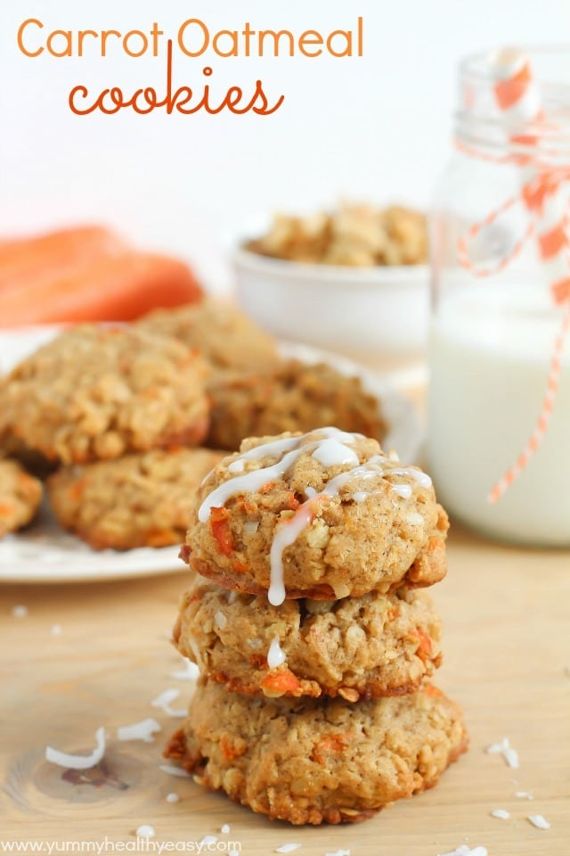 Carrot Oatmeal Cookies - Yummy Healthy Easy
