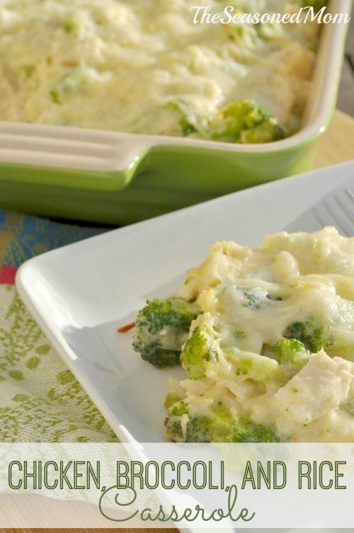 Chicken Broccoli and Rice Casserole from www.theseasonedmom.com