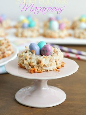Easter Egg Nest Macaroons