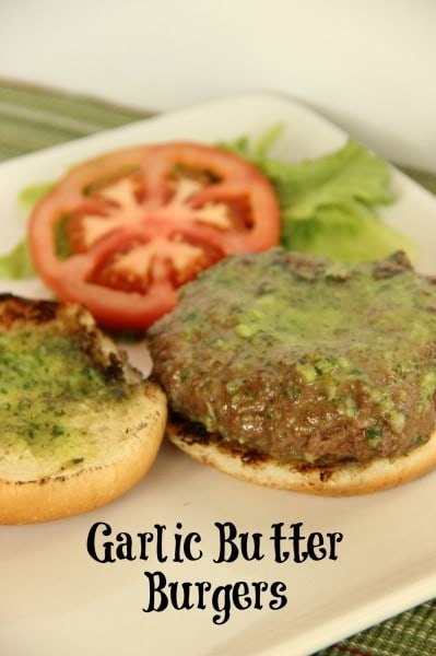 Garlic Butter Burgers - www.diaryofarecipecollector.com