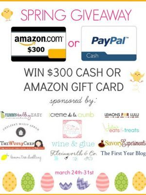 Happy Spring! Enter to win a $300 Cash or Amazon Gift Card!