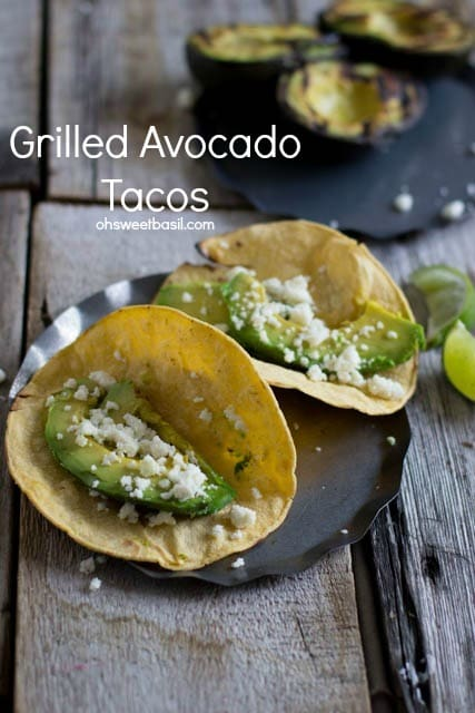 Grilled Avocado Tacos - www.ohsweetbasil.com
