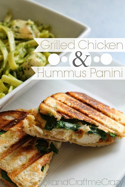 Grilled Chicken & Hummus Panini - cookandcraftmecrazy.blogspot.com