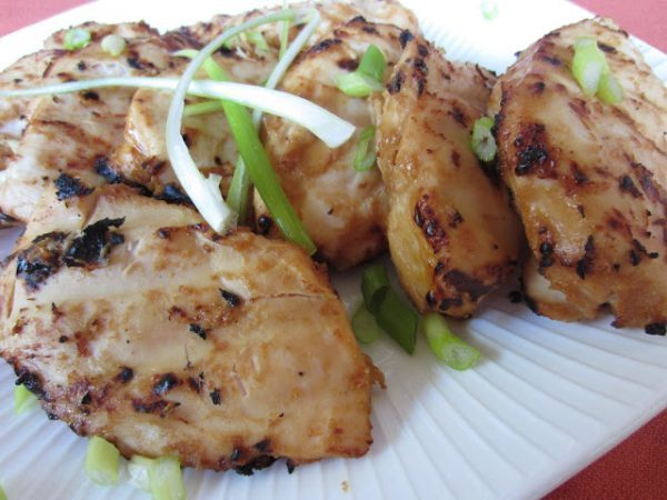 Grilled Peanut Ginger Chicken - www.reneeskitchenadventures.com