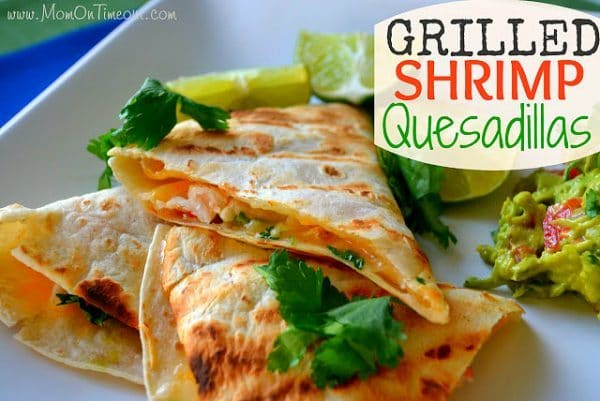 Grilled Shrimp Quesadillas - www.momontimeout.com