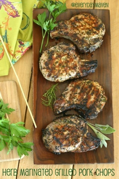 Herb Marinate Grilled Pork Chops