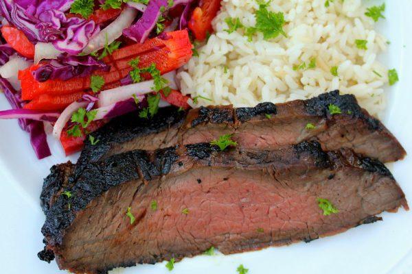 Korean Style BBQ Flank Steak - www.karenskitchenstories.com