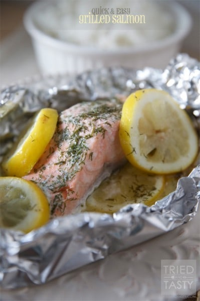 Quick & Easy Grilled Salmon - triedandtasty.com