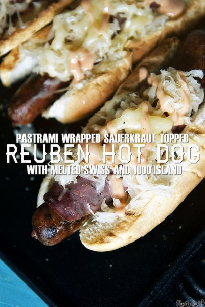 Reuben Hot Dogs - girlcarnivore.com