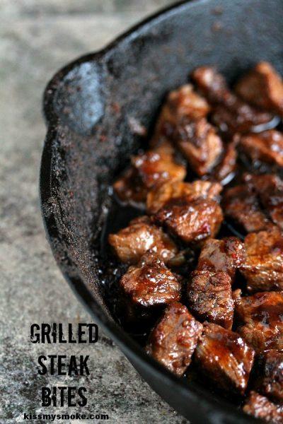 Grilled Steak Bites - www.kissmysmoke.com