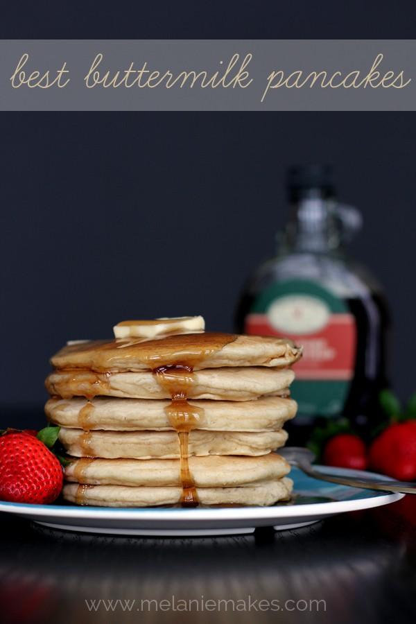 best buttermilk pancakes by Melanie Makes
