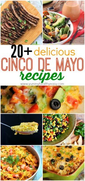 Over 20 Mexican food recipes perfect to celebrate Cinco de Mayo or Taco Tuesday or ANY day, really!