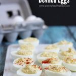 Easy Deviled Eggs - creamy, simple, delicious recipe. Perfect to bring to a party, everyone loves these!