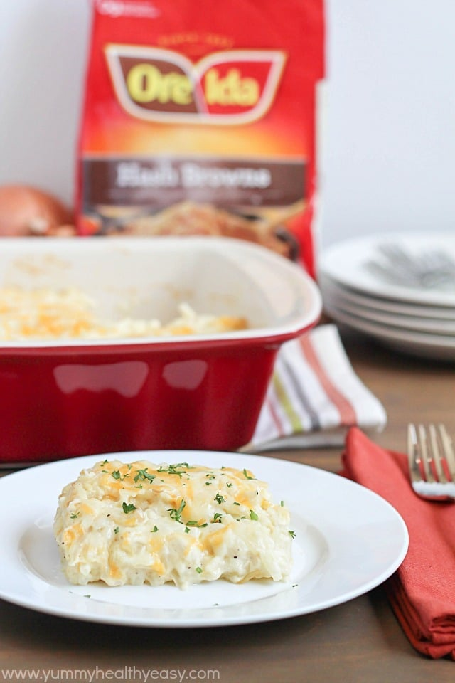 Delicious & Easy Potato Casserole - the perfect side dish for Easter brunch or any meal of the week! #shop #cbias
