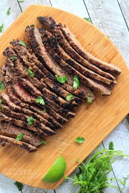 Grilled Fajita Skirt Steak from Joyful Healthy Eats