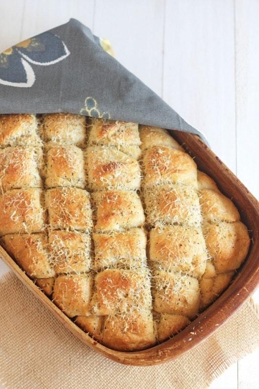 Italian Herb Oatmeal Pan Bread - carmelmoments.com