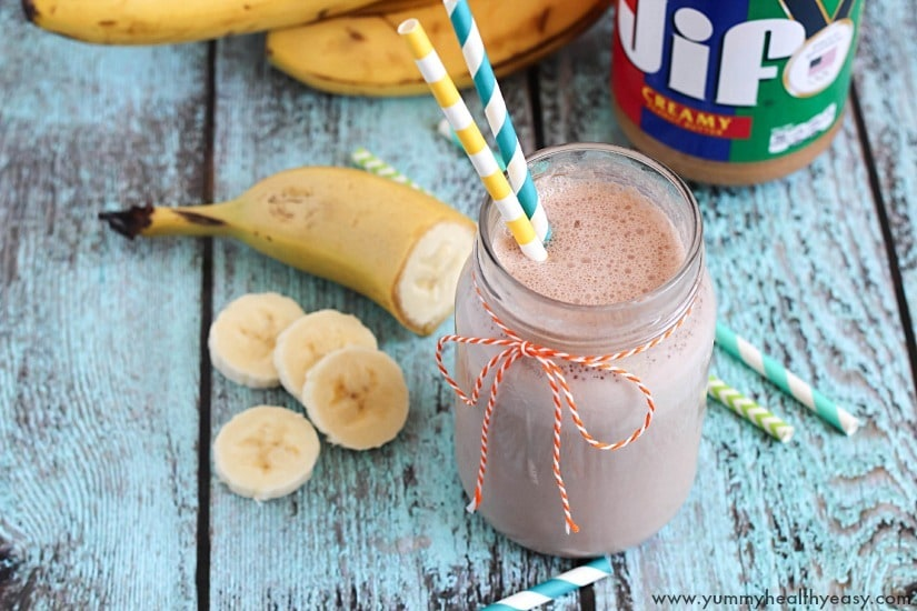 Peanut Butter Banana Smoothie by Yummy Healthy Easy