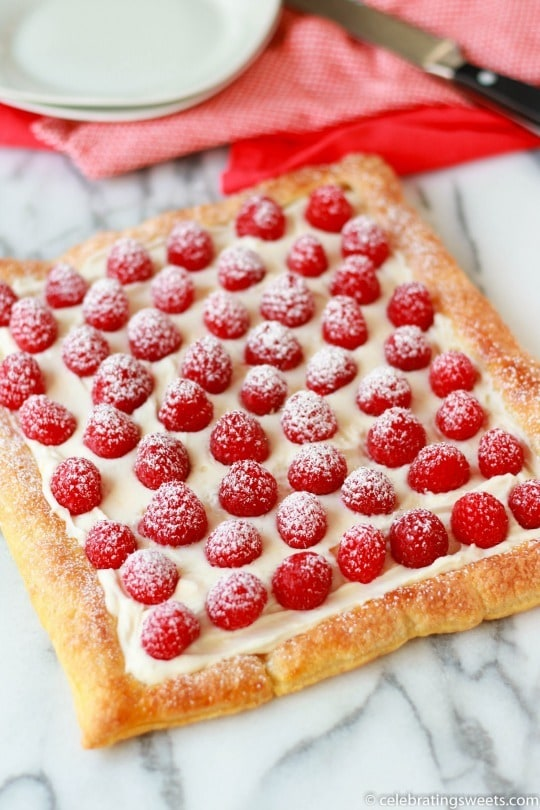 Raspberry Lemon Cream Tart from Celebrating Sweets