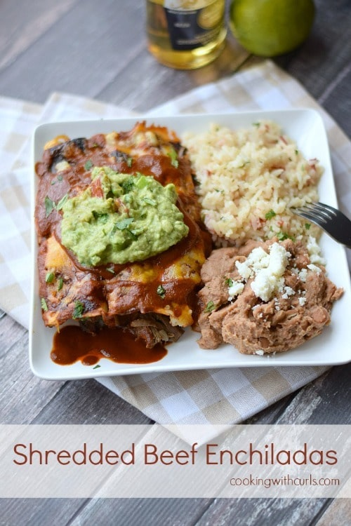 Shredded Beef Enchiladas from Cooking with Curls