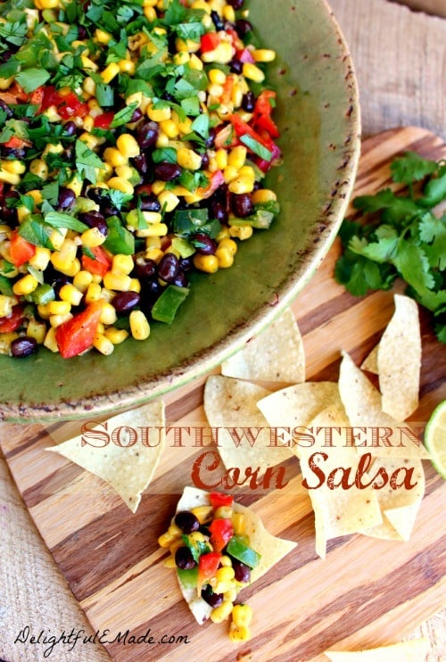Southwestern Corn Salsa from Delightful E Made