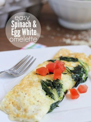 Easy Spinach & Egg White Omelette | an easy, clean eating omelette that makes the perfect healthy breakfast!