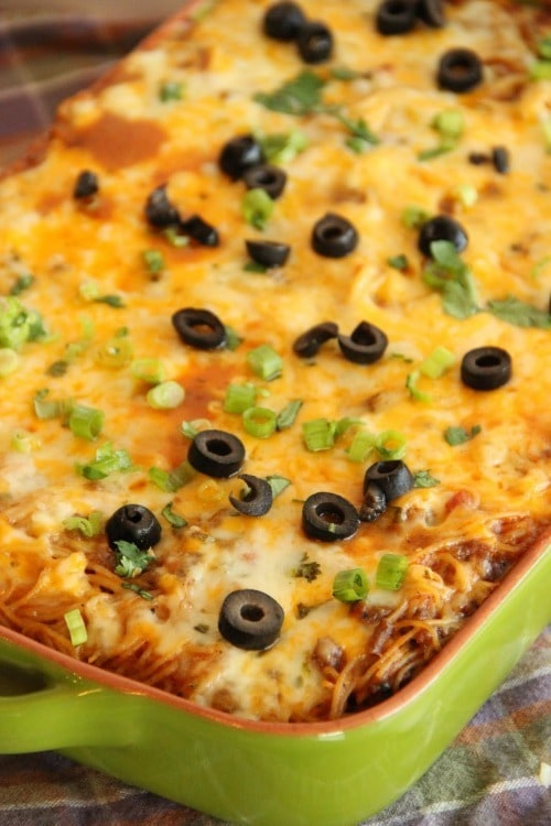 Taco Spaghetti Bake from Diary of a Recipe Collector
