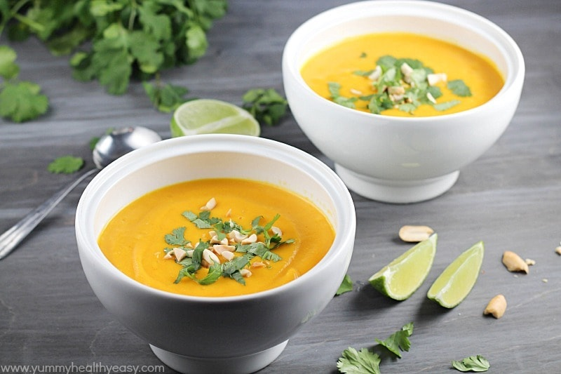 Thai Butternut Squash Soup - Yummy Healthy Easy