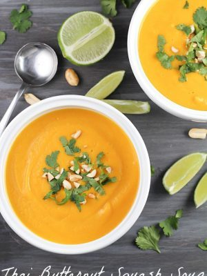 Thai Butternut Squash Soup - healthy, easy, vegetarian, gluten free & absolutely delicious!