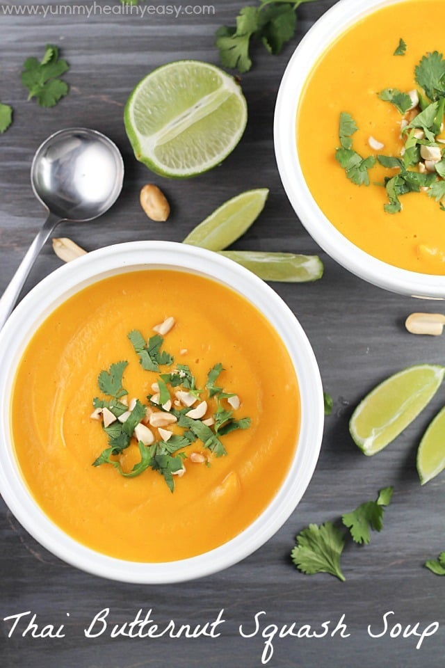 Thai Butternut Squash Soup Healthy Easy Vegetarian Gluten Free Absolutely Delicious