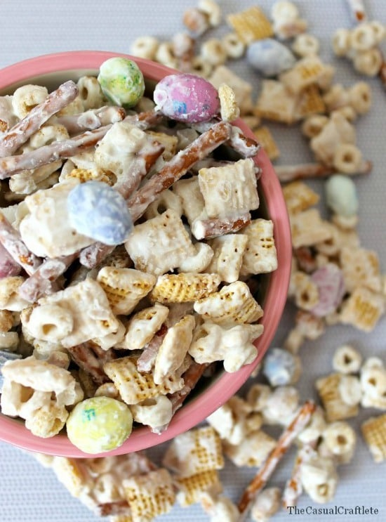 White Chocolate Party Mix Recipe from The Casual Craftlete
