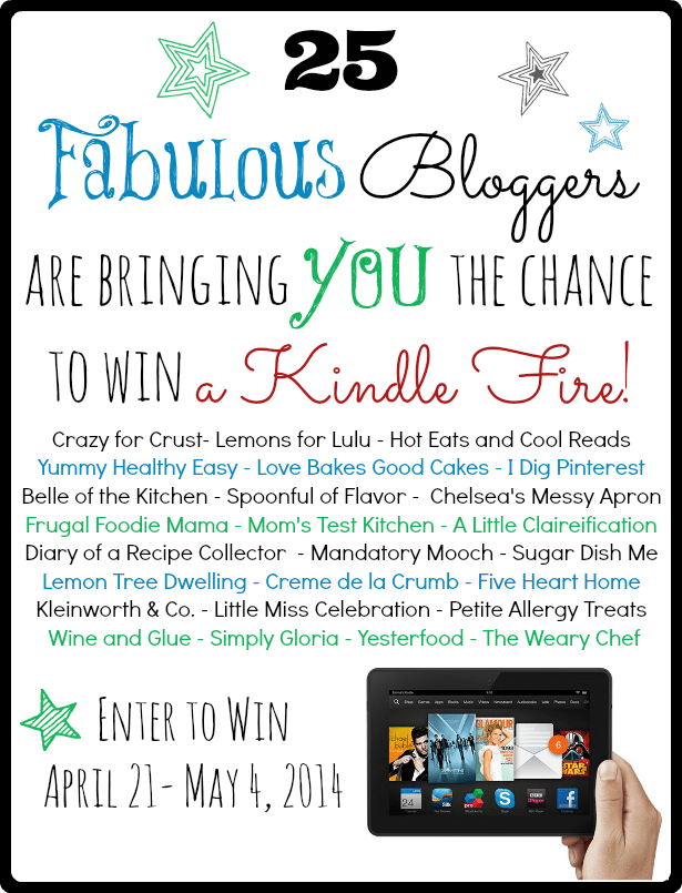25 Fabulous Bloggers are bringing you the chance to win a Kindle Fire!!