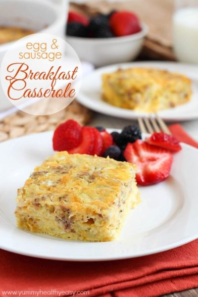 Easy and delicious casserole made with egg, sausage, cottage cheese & green chilies that everyone loves! Perfect for breakfast, brunch and parties.