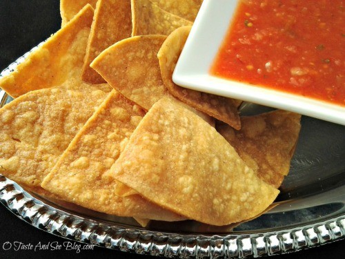 Homemade Tortilla Chips from O Taste and See