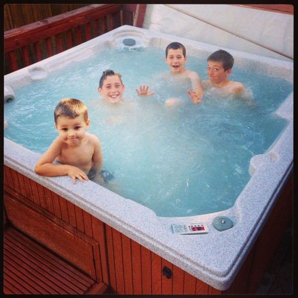 boys in the jacuzzi!!