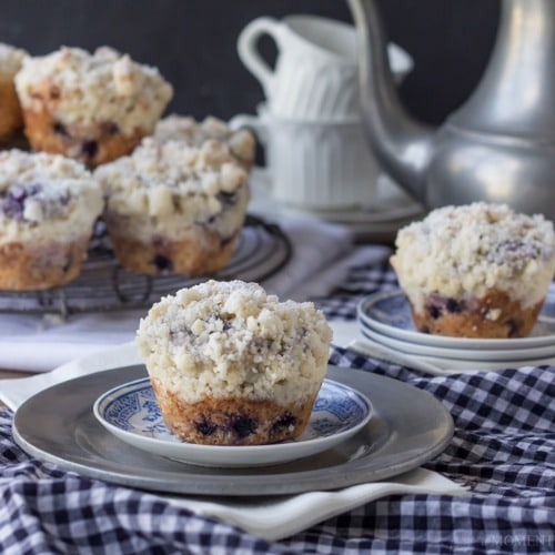 Simply Perfect Blueberry Muffins by Baking a Moment
