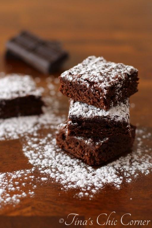 Light Fudgy Brownies by tinaschic.com