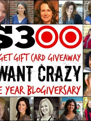 $300 Target Gift Card Giveaway - I Want Crazy One Year Blogiversary!