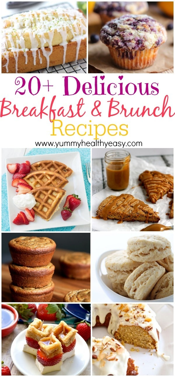 20+ Delicious Breakfast Recipes on yummyhealthyeasy.com