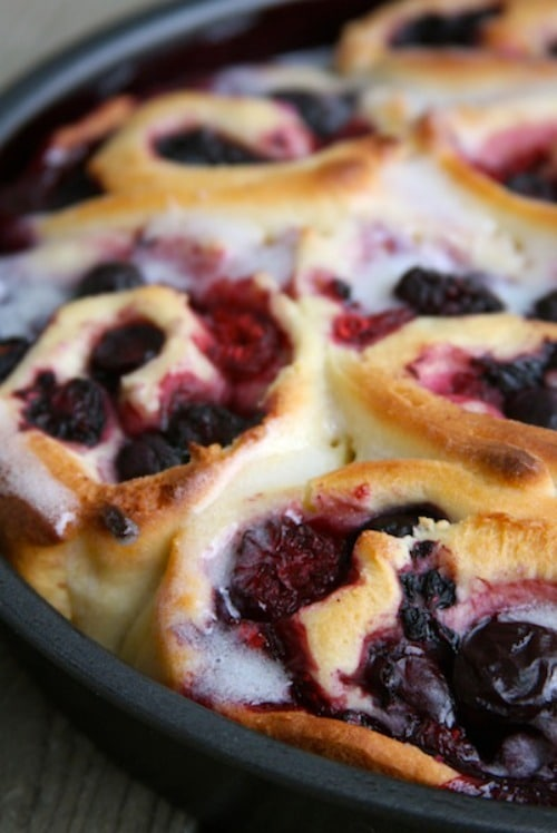 Cherry and Mixed Berry Sweet Rolls by Shop Girl Maria